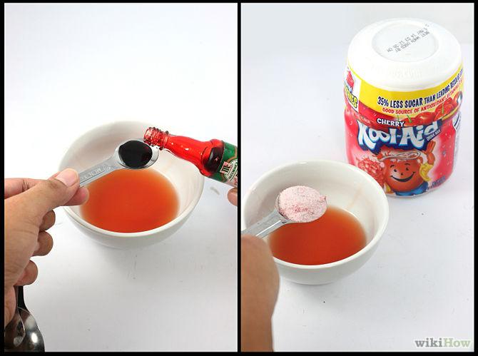 Как сделать краску цвета крови 828