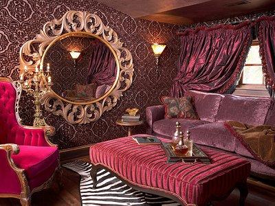 boudoir style Victorian sitting room